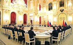 В.Матвиенко приняла участие взаседании Высшего Государственного Совета Союзного государства России иБелоруссии