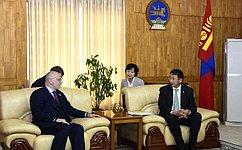 Делегация СФ встретилась сзаместителем Председателя Великого Государственного Хурала Монголии