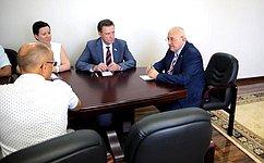 С. Рябухин входе рабочей поездки встретился спредседателем Законодательного собрания Ульяновской области