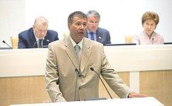 Врамках «правительственного часа» вСовете Федерации выступил Министр юстиции России А.Коновалов