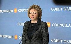 Законодатели продолжат работу попротиводействию ипрофилактике семейного насилия– В.Матвиенко
