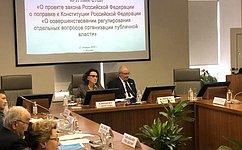 А.Клишас иТ.Хабриева провели «круглый стол», посвященный поправкам вКонституцию РФ