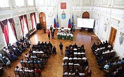 Сенаторы приняли участие вМеждународном форуме «Эколята– Молодые защитники Природы Каспия иНижнего Поволжья»