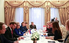 Председатель СФ провела встречу спрезидентом Международного Комитета Красного Креста