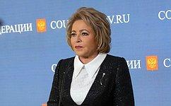 В. Матвиенко: Визит вСеул станет продолжением диалога между Россией иЮжной Кореей