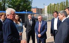 Члены Временной комиссии Совета Федерации посовершенствованию правового регулирования всфере государственного контроля (надзора) имуниципального контроля посетили Краснодарский край