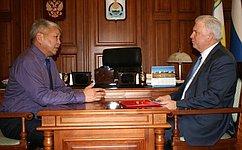 В.Наговицын обсудил спредставителями руководства Бурятии тему проведения Дней региона вСовете Федерации