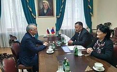 Б. Жамсуев: Российские имонгольские парламентарии продолжат укреплять стратегическое взаимодействие