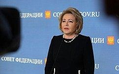 В. Матвиенко станет одним изнаставников конкурса управленцев «Лидеры России»