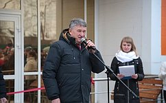 Ю. Воробьев принял участие воткрытии физкультурно-оздоровительного комплекса вВытегре