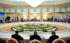 В. Матвиенко выступила нарасширенном заседании Совета глав государств СНГ вТаджикистане