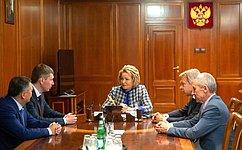 Председатель СФ В.Матвиенко провела встречу сгубернатором Пермского края М.Решетниковым