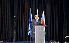 Н. Федоров принял участие вцеремонии открытия Аллеи основоположников космонавтики вгороде Витанье (Словения)