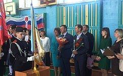 Виктор Новожилов принял участие вторжественной линейке посвященной началу учебного года