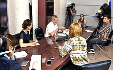 Сергей Фабричный рассказал региональным журналистам означимых решениях Совета Федерации