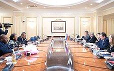Е. Бушмин провел встречу сПредседателем Сената Республики Экваториальная Гвинея Тересой Эфуа Асангоно