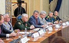 ВСовете Федерации состоялось совместное заседание Комитета СФ пообороне ибезопасности иКлуба военачальников РФ