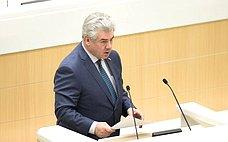 В. Бондарев проинформировал сенаторов освоей работе напосту полномочного представителя СФ вСледственном комитете РФ
