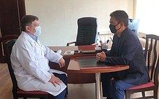 И. Ялалов провел рабочую встречу сглавным врачом Республиканской клинической инфекционной больницы№4Уфы
