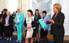 Л. Гумерова приняла участие воткрытии выставки, посвященной выдающимся достижениям российских женщин-новаторов