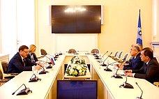 К. Косачев провел встречу сделегацией Олий Мажлиса Узбекистана воглаве сА.Саидовым