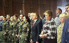 Н. Куликовских иВ.Кравченко приняли участие вторжественном мероприятии, приуроченном коДню поисковика