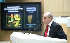 Финансист М.Алексеев выступил назаседании Совета Федерации врамках формата «Время эксперта»