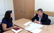 В.Харламов провел прием граждан вТимашевском районе