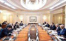 Состоялось совместное заседание Комитета СФ помеждународным делам иКомиссии поиностранным делам ивопросам миграции Сената Италии