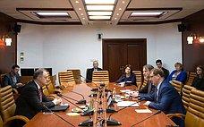 К.Косачев провел встречу сПослом Черногории вРоссии Р.Башичем