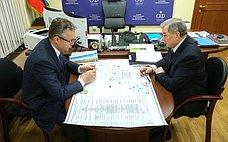 А. Артамонов провел рабочую встречу сгубернатором Ставропольского края В.Владимировым