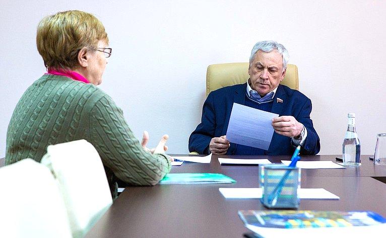 Юрий Липатов провел личный прием граждан вМногофункциональном центре города Реутов