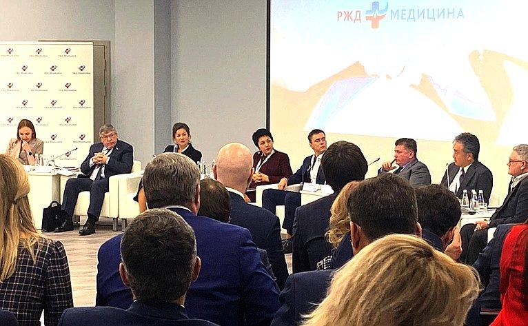 Валерий Рязанский принял участие впленарном заседании Медицинского совета сети «РЖД Медицина»