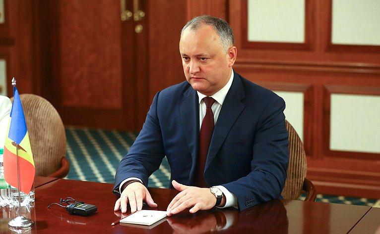 Президент Молдавии И.Додон