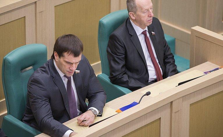 Э. Исаков на386-м заседании Совета Федерации