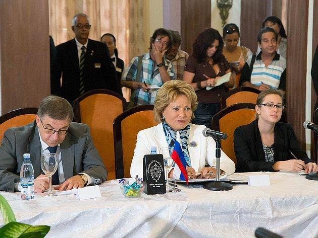 Официальный визит делегации Совета Федерации во главе с Председателем палаты в  Республику Куба 4