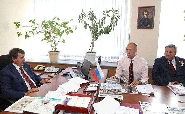 Сергей Цеков провел врегионе встречу счленами Союза писателей ипредставителями СМИ