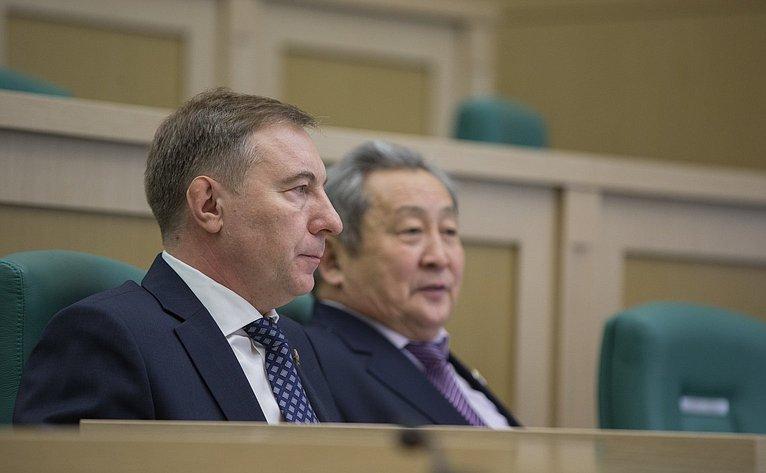 А. Варфоломеев на386-м заседании Совета Федерации