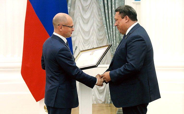 Сенатор В. Полетаев награжден Почетной грамотой Президента Российской Федерации