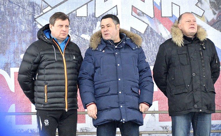 Андрей Епишин принял участие втверском этапе Всероссийской гонки «Лыжня России— 2018»