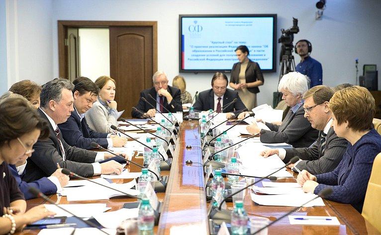 Круглый стол Комитета СФ помеждународным делам
