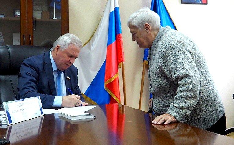 В.Наговицын провел прием граждан Бурятии