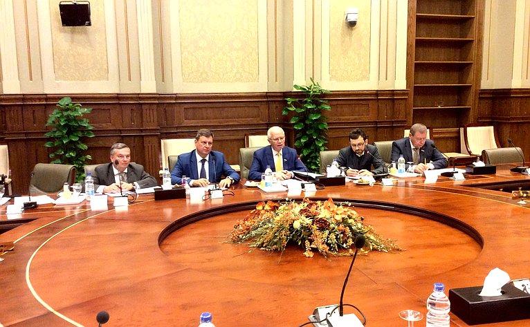 Встреча Фарита Мухаметшина счленами Палаты депутатов Арабской Республики Египет