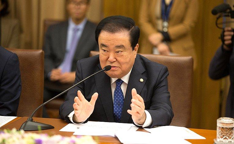 Председатель Национального собрания Республики Корея Мун Хи Сан