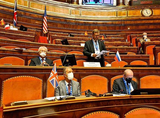 Константин Косачев выступил входе второй сессии Конференции председателей парламентов стран «Группы двадцати» вРиме