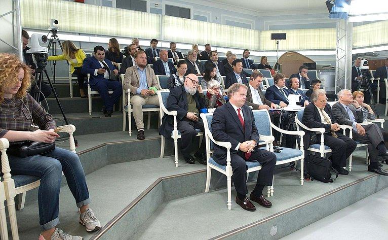 Встреча К.Косачева иА.Климова смеждународными экспертами повыборам врегионах Российской Федерации