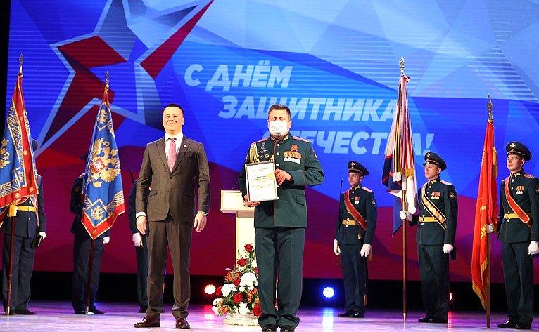 Александр Пронюшкин посетил торжественное собрания, посвященное Дню защитника Отечества