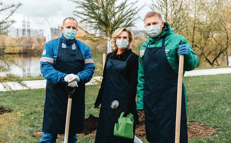 Инна Святенко врамках региональной недели приняла участие вэколого-патриотической акции