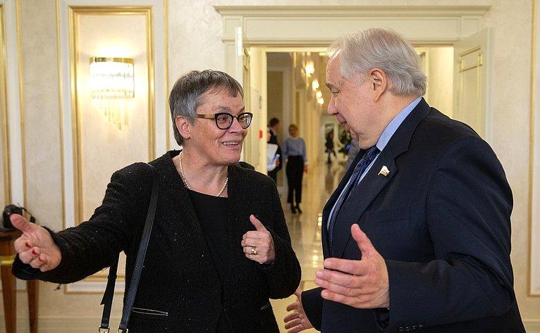 Встреча сПредседателем Парламентской ассамблеи Совета Европы Лилиан Мори Паскье