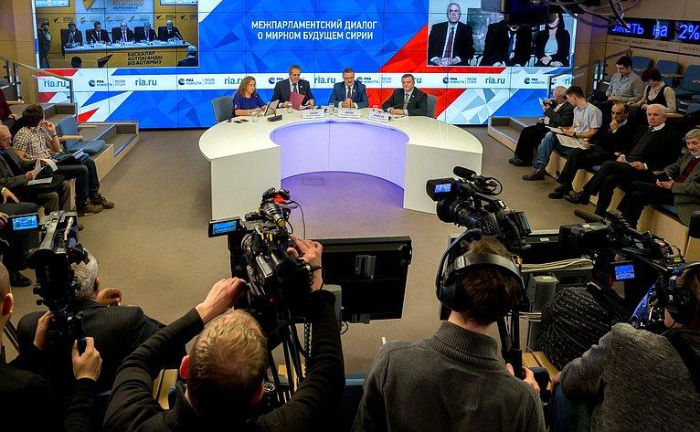 Видеомост Москва– Дамаск– Астана натему «Межпарламентский диалог омирном будущем Сирии»